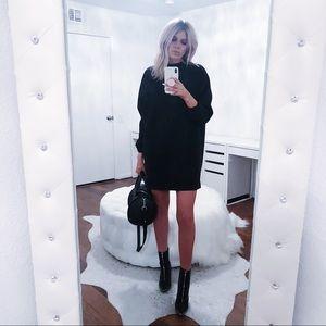 Lovers + Friends black sweatshirt dress
